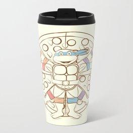 Vitruvian Turtle Metal Travel Mug