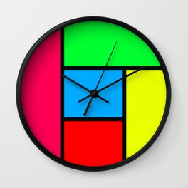 Lack of Talent Abstract #5 Wall Clock