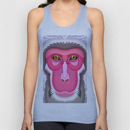 Japanese Macaque Unisex Tank Top