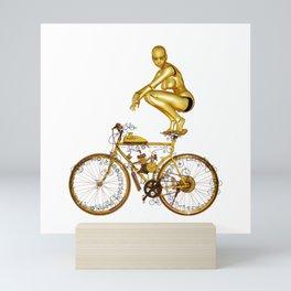 Golden Robo and Golden Bike Mini Art Print