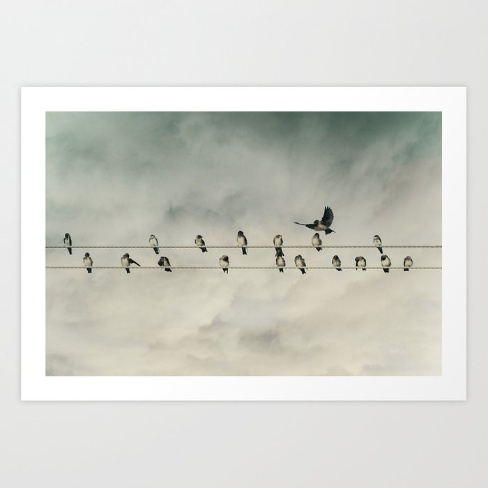 IN HIS USUAL RUDE FASHION, BOB ARRIVED LATE TO THE MEETING Art Print