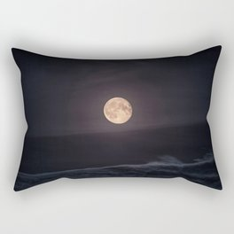 Full Moon over the Ocean Rectangular Pillow