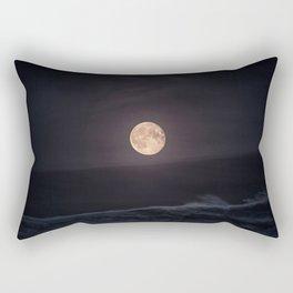 Full Moon over the Ocean Rectangular Pillow