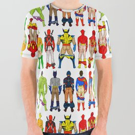 Superhero Butts All Over Graphic Tee