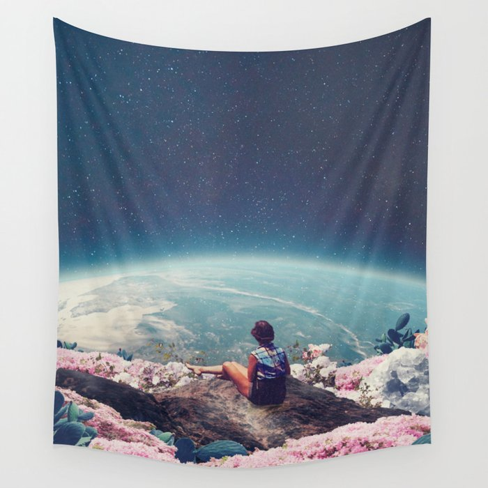 My World Blossomed when I Loved You Wall Tapestry