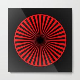 black and red Metal Print