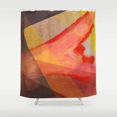 Orange flow Shower Curtain