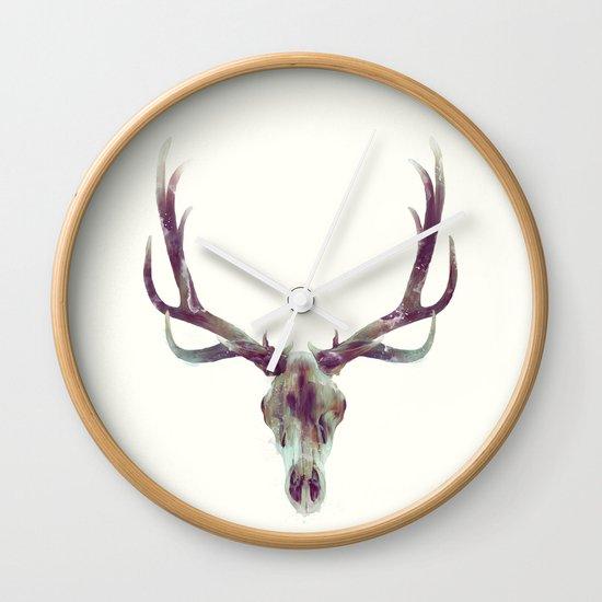 Elk Skull Wall Clock