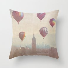 Balloons over Midtown Throw Pillow