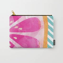 Pink Grapefruit Abstract Carry-All Pouch