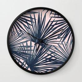 Tropical Fan Palm Leaves #4 #tropical #decor #art #society6 Wall Clock
