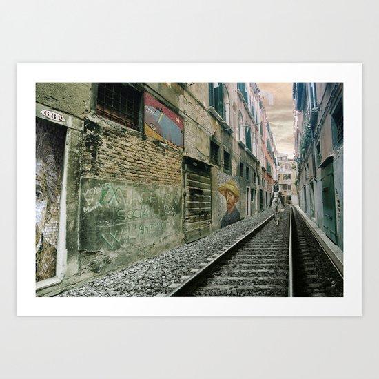Surreal Venice Art Print