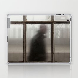 A Man Walking Behind the Old Station Laptop & iPad Skin