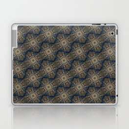 Jaws on Gold and Blue Laptop & iPad Skin