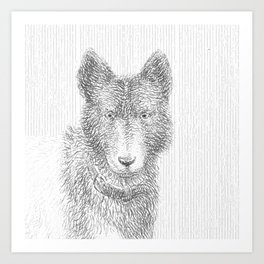 Dogs head Art Print