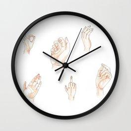 Many Hands Wall Clock
