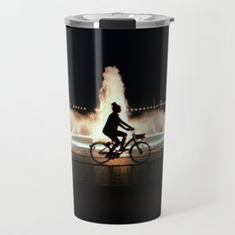 Riding at Night Travel Mug
