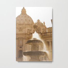 Bernini's Fountain Metal Print
