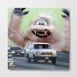 The Abominable Snowman vs. OJ Simpson Metal Print