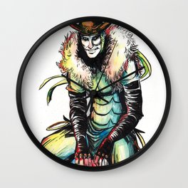 King Loki in Watercolor Wall Clock