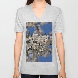 Magic White Cherry Blossom Dream Unisex V-Neck