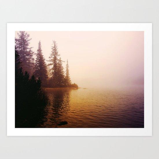 Sunset at Lake Art Print
