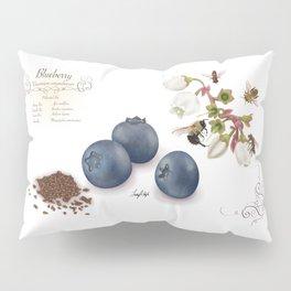 Blueberry and Pollinators Pillow Sham