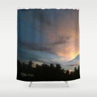 socks Shower Curtains featuring Fox In Socks - Clouds by NitaB.NishaN