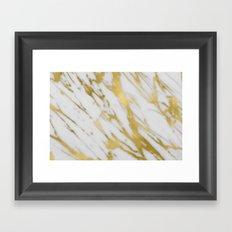 Gold White Marble Framed Art Print