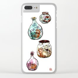 Tiny Fox Vessels Clear iPhone Case