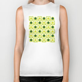 Geometric Pattern #210 (lime green) Biker Tank