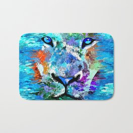 Wild Water Lion Bath Mat