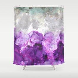 Alcohol Ink Amethysta Shower Curtain
