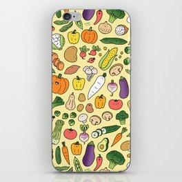 Veggie Friends Doodle iPhone Skin