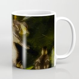 Mallard Duck Family, Mother With Ducklings Coffee Mug