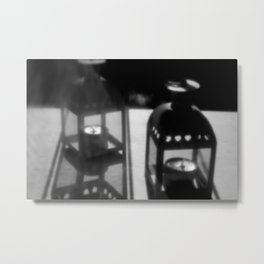 Candles in the pinhole Metal Print