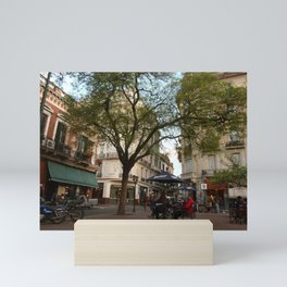 Best table in the city Mini Art Print