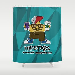 hip STAR Shower Curtain