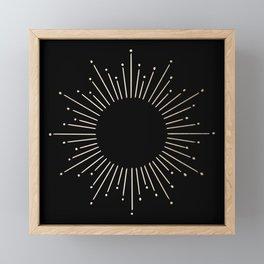 Sunburst White Gold Sands on Black Framed Mini Art Print