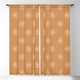 Seamless background ammonite fossil gender neutral baby pattern. Blackout Curtain