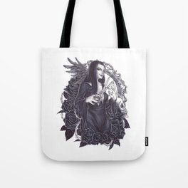 Morticia Addams Tote Bag