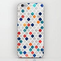 moroccan iPhone & iPod Skins featuring Sea & Spice Moroccan Pattern by micklyn