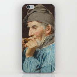 ANKER, ALBERT (1831 Ins 1910) Bauer whistle. 1908th iPhone Skin