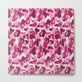 Bape Pink Metal Print