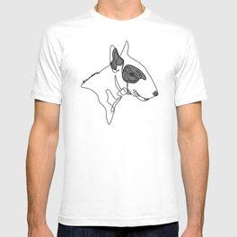 Bull Terrier One Line Art T-shirt