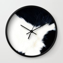 Black & White Spots (Cow Print) Wall Clock