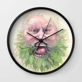 Blessed Be, Brian Blessed is the Green Man! Wall Clock