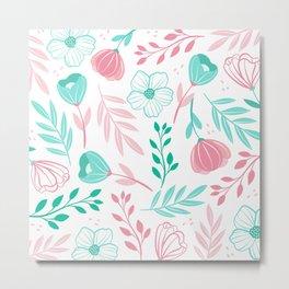 Tini Flowers Metal Print