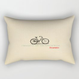 I Thought Of That While Riding My Bicycle Einstein Rectangular Pillow