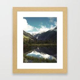 (Franz Josef Glacier) Where the snow melts Framed Art Print